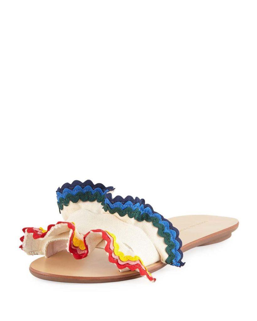 loeffler-randall-MULTI-Birdie-Flat-Ruffled-Canvas-Slide-Sandal
