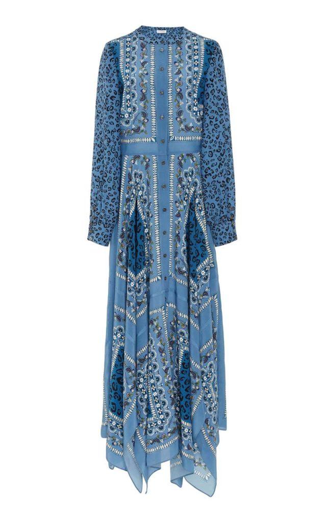 Altuzarra Tamourine Printed Silk Maxi Dress