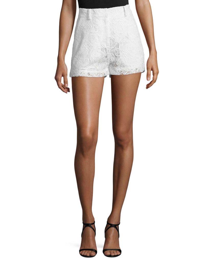 McQ Alexander McQueen Lace High-Rise Shorts_1