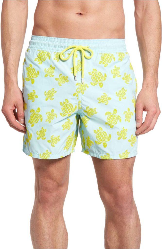 Vilebrequin Moorea Flocked Turtles Print Swim Trunks