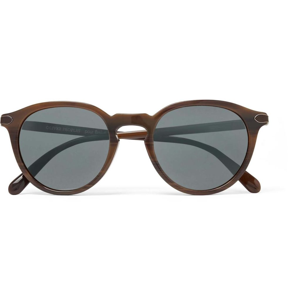 berluti-brown-Oliver-Peoples-Rue-Marbeuf-Round-frame-Acetate-Polarised-Mirrored-Sunglasses