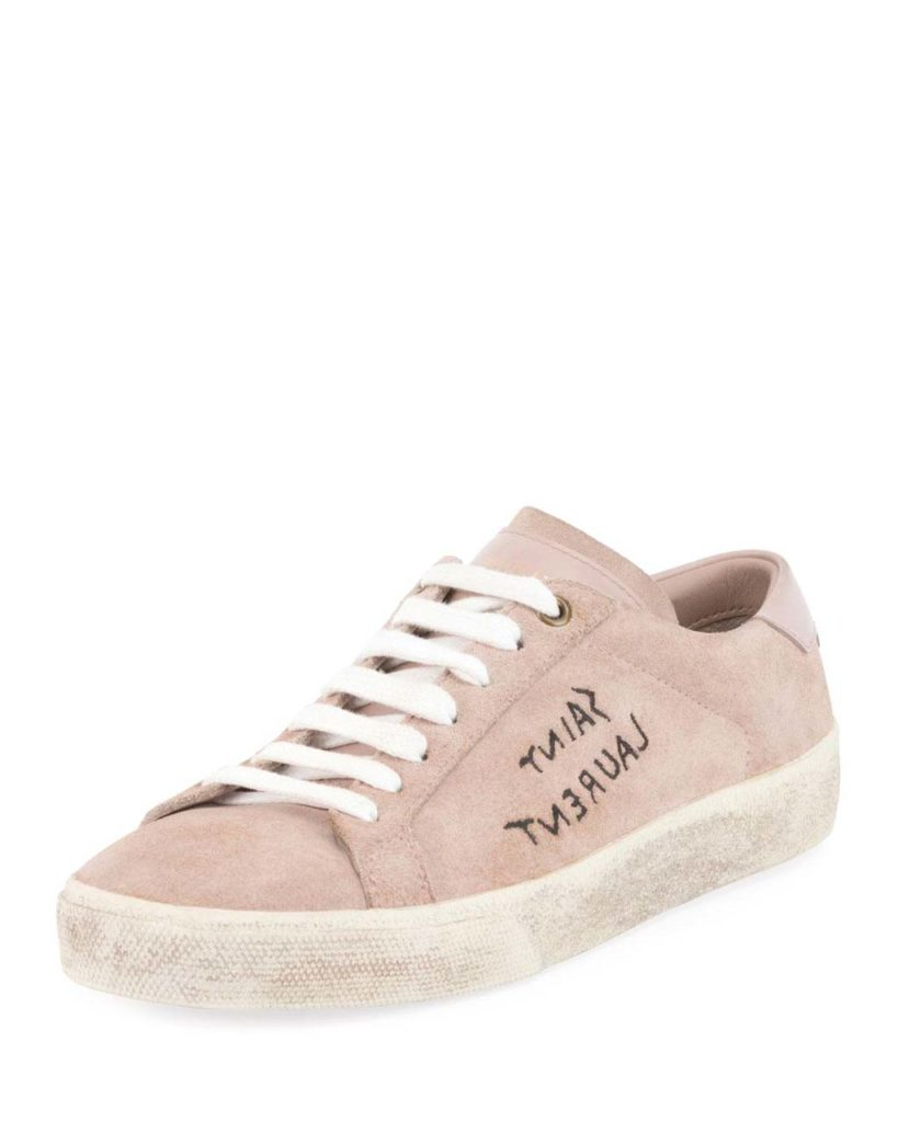 saint-laurent-ROSE-ANTIQUE-Court-Classic-Logo-writing-Suede-Low-top-Sneaker