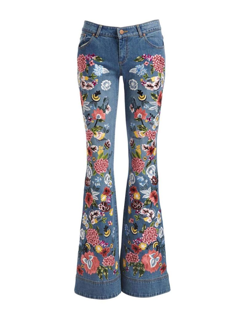Alice & Olivia Embroidered Jeans $795