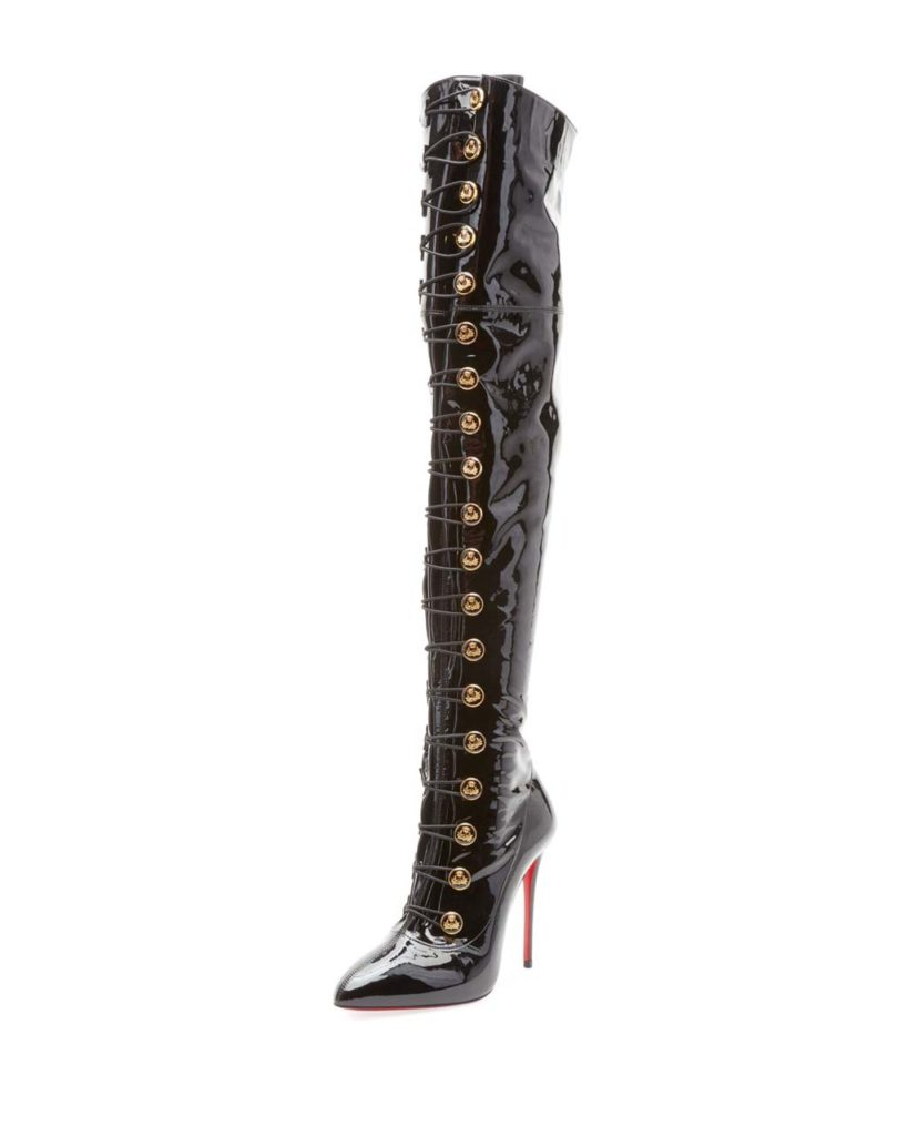 Christian Louboutin Frenchissima Over-The-Knee Patent Leather Boot