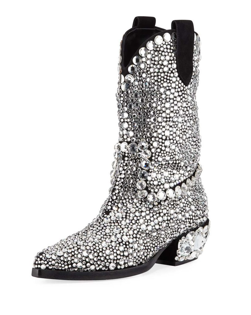Dolce & Gabbana 30mm Crystal Western Boot_1