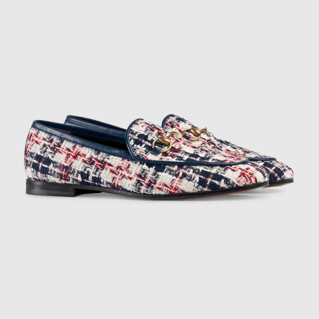 Gucci Jordan Tweed Check Loafer $730