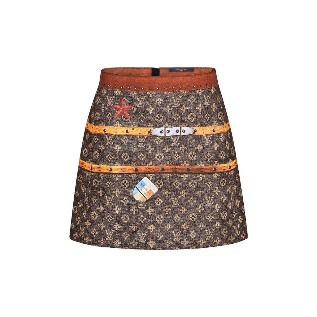 LV Mini Skirt w Trunks Print