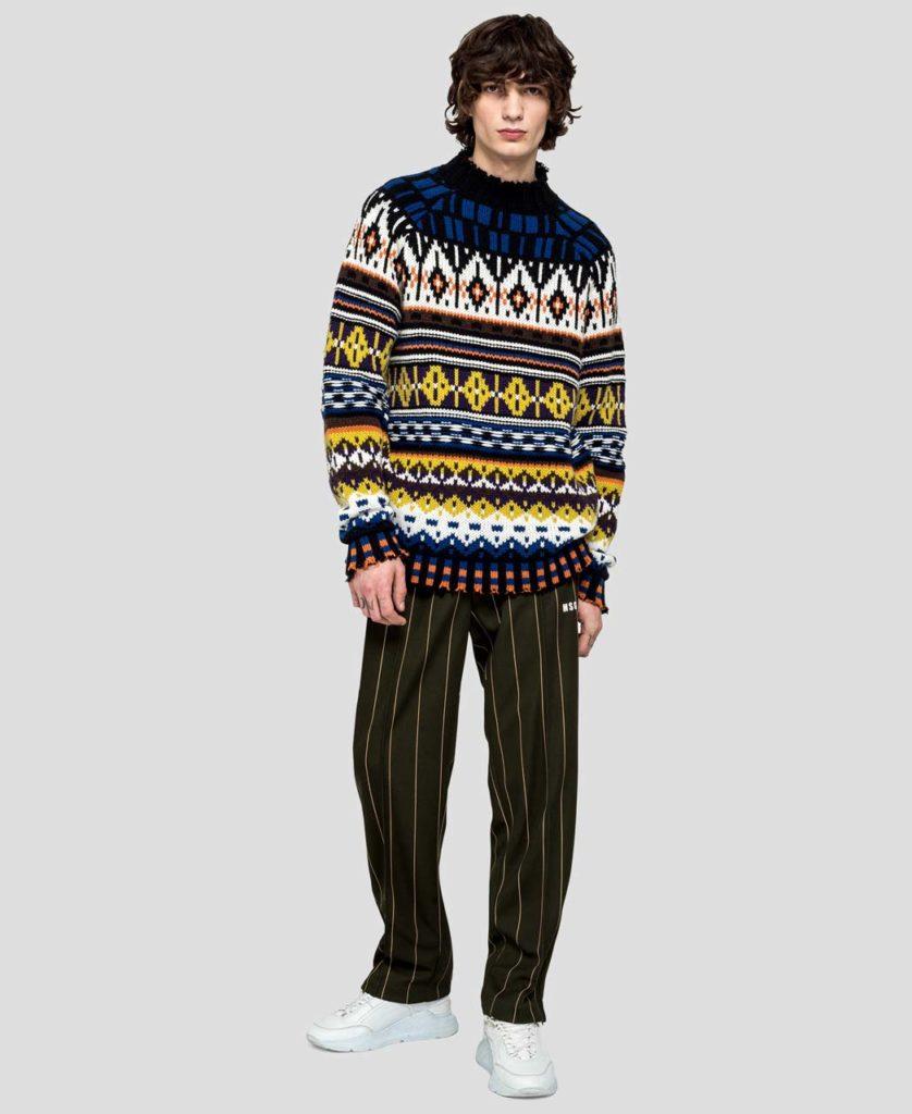 MSGm Mountain Pattern Knit Sweater &655_1