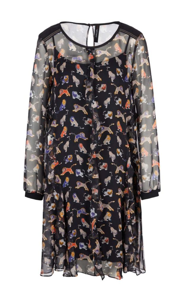 Marc Cain Silk Dress with Lions_1