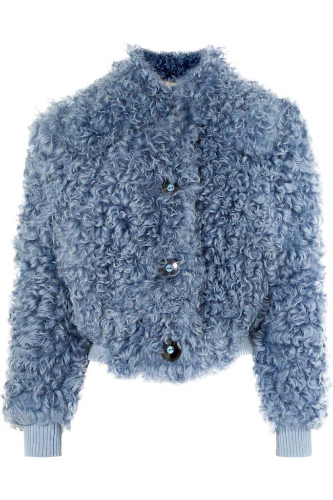 Miu Miu Cropped Shearling Jacket