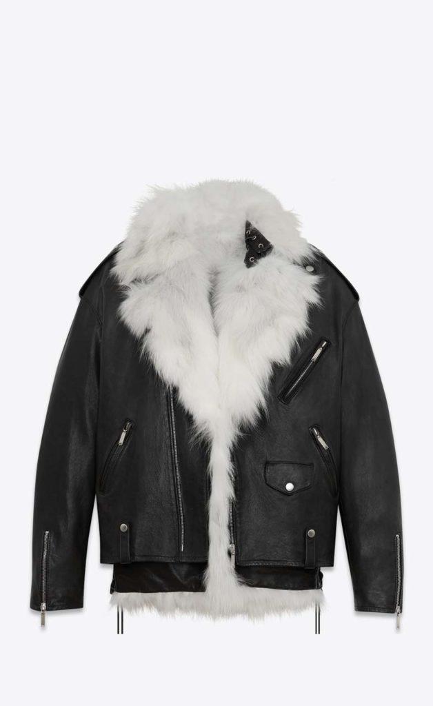 Saint Laurent Oversized Fox Leather Coat $9,900_1