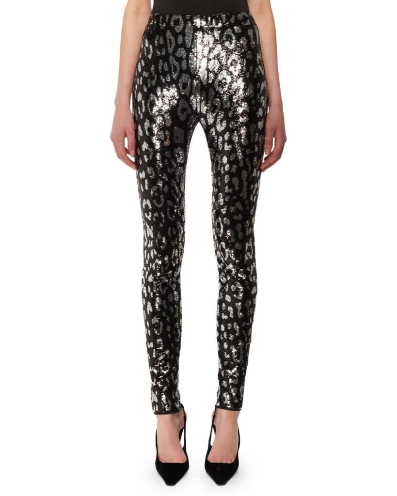 TOM FORD Leopard-Print Liquid-Sequin Leggings