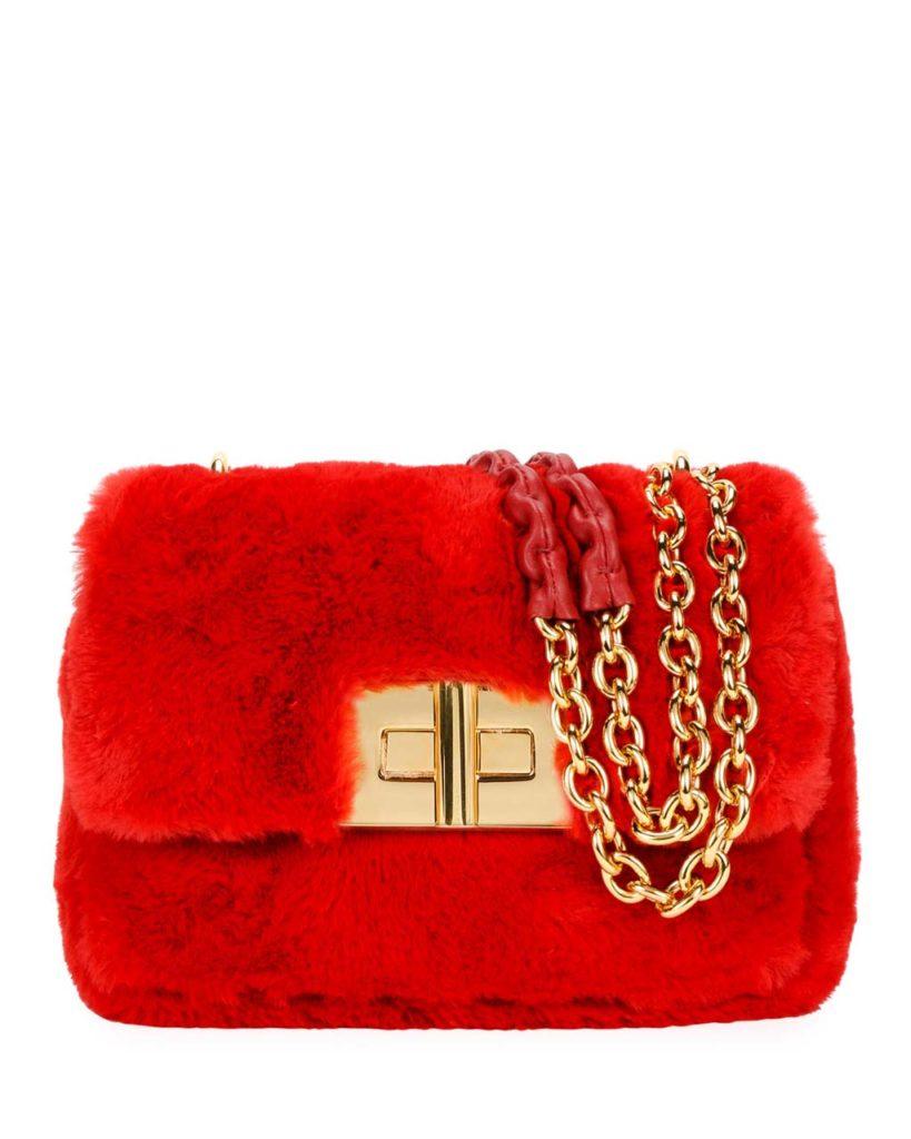 TOM FORD Natalia Large Faux-Fur Shoulder Bag