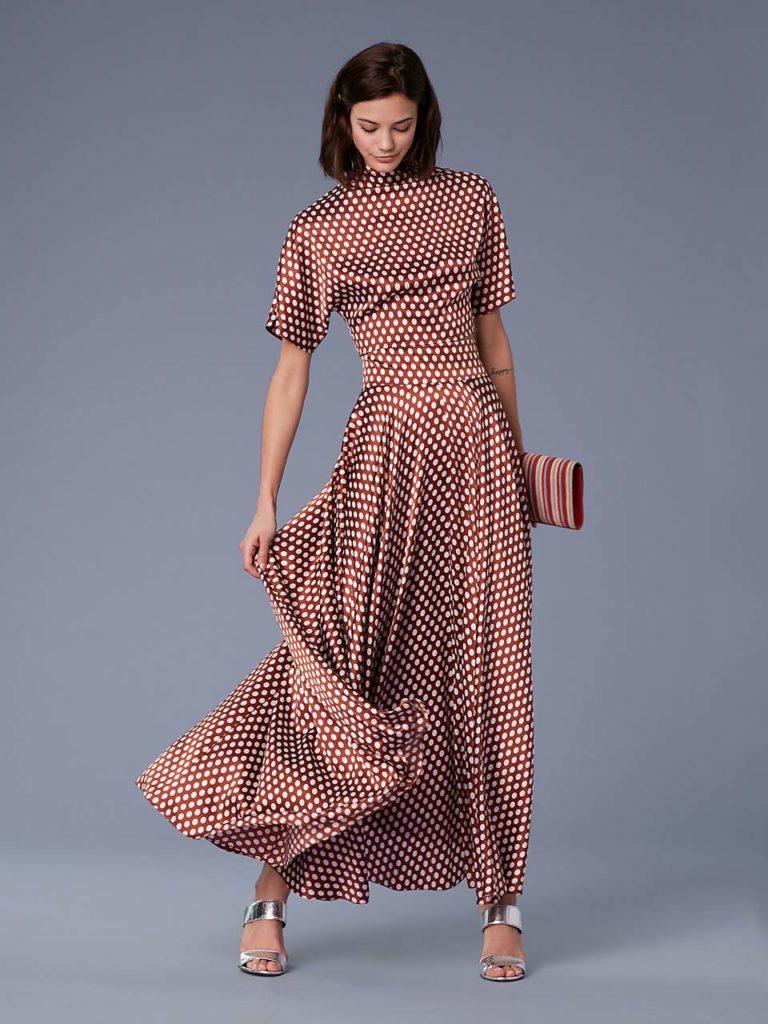 dvf satin dress
