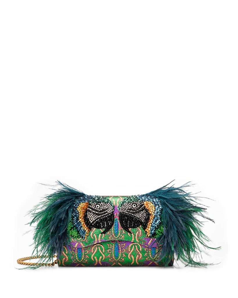 gucci feather clutch