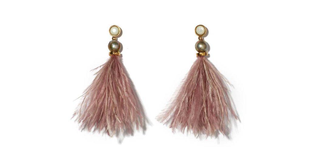 lizzy fortunado feather earrings