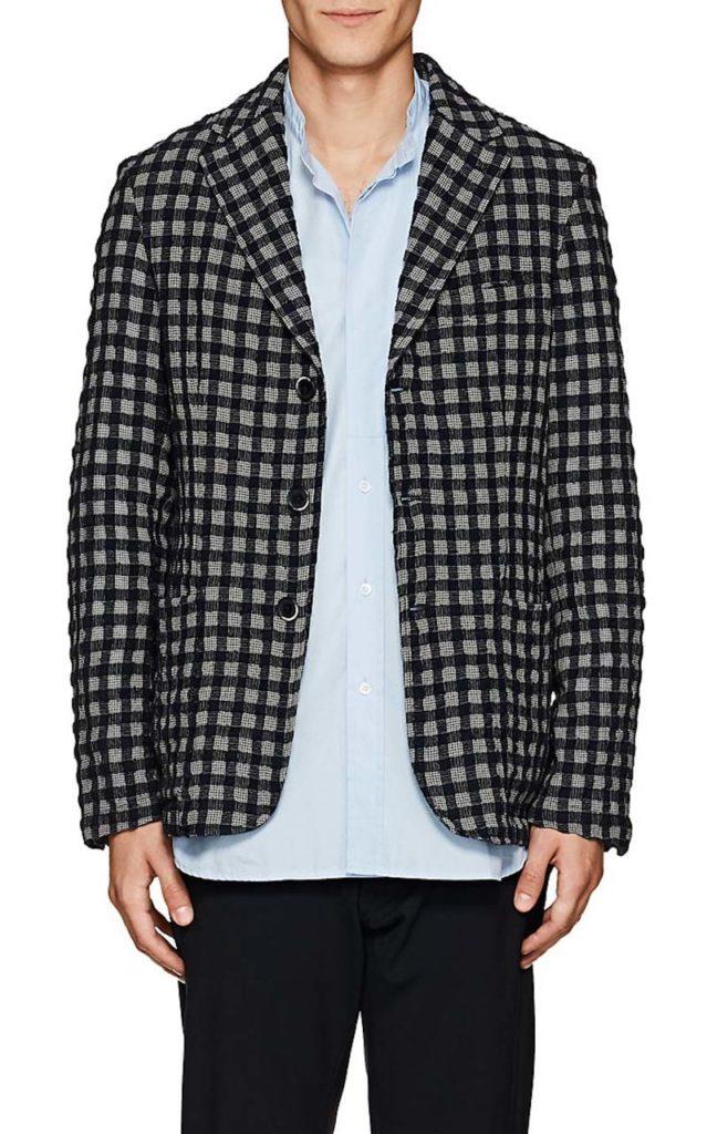 Barena Venezia Checked Wool-Cotton Three-Button Sportcoat