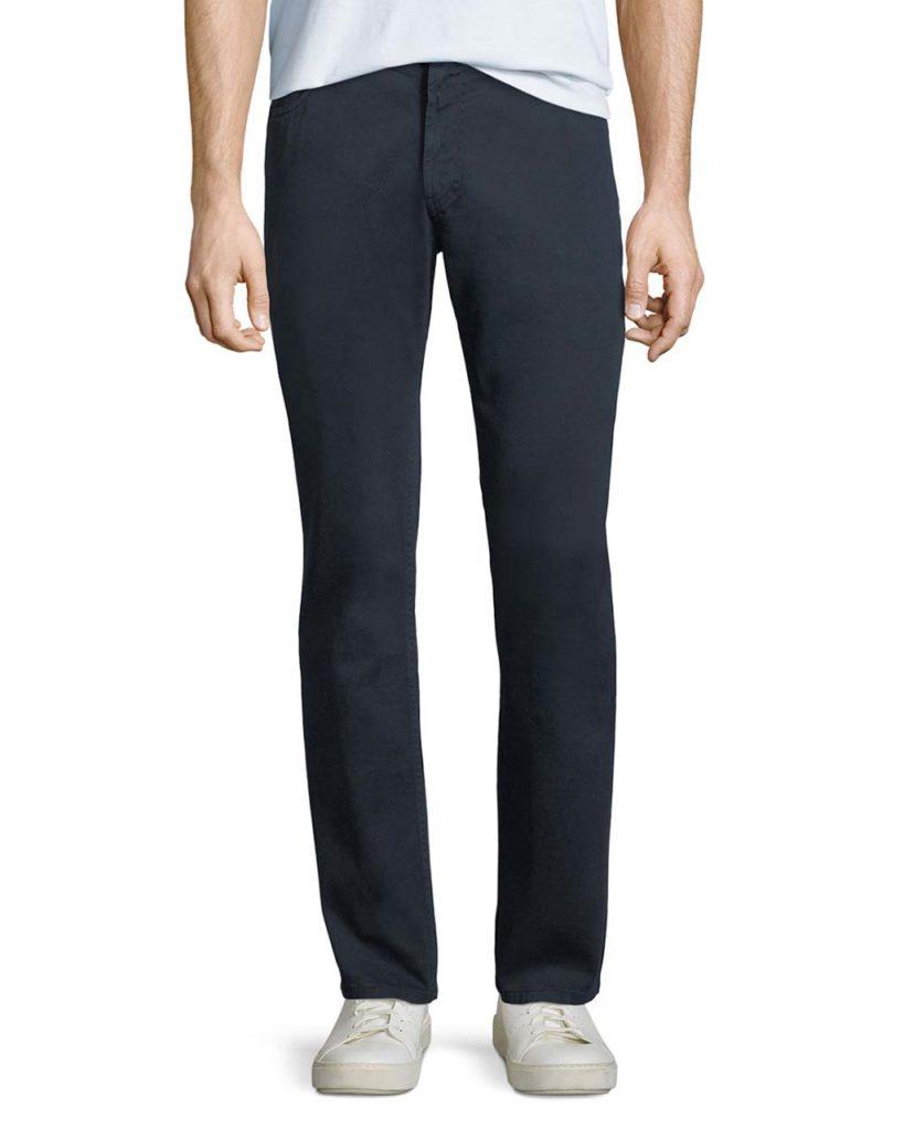 Giorgio Armani 5-Pocket Slim-Leg Twill Pants_1