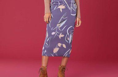 dvf floral skirt