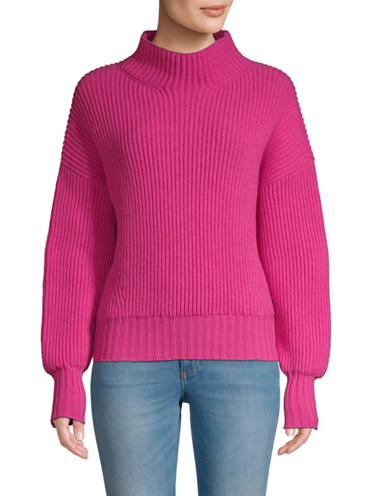 escada-shocking-pink-Rib-knit-Virgin-Wool-Cashmere-Sweater