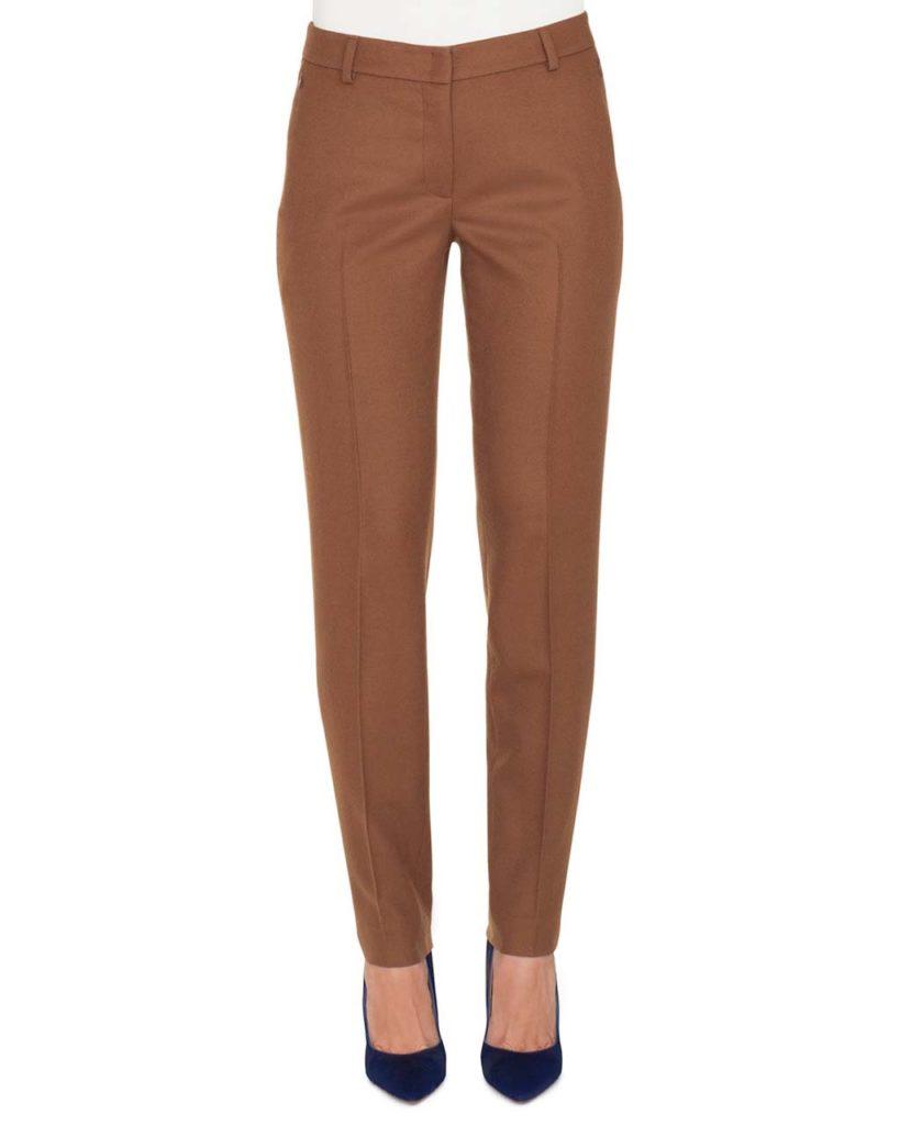 Akris Melvin Slim Straight-Leg Wool Flannel Stretch Pants