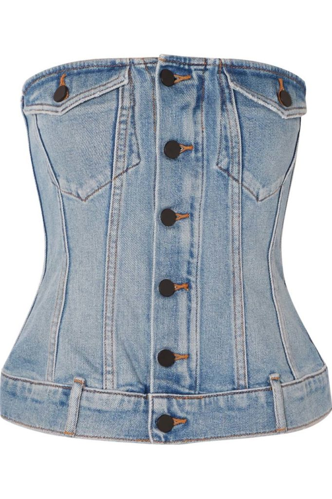 Alexander Wang Strapless Denim Top