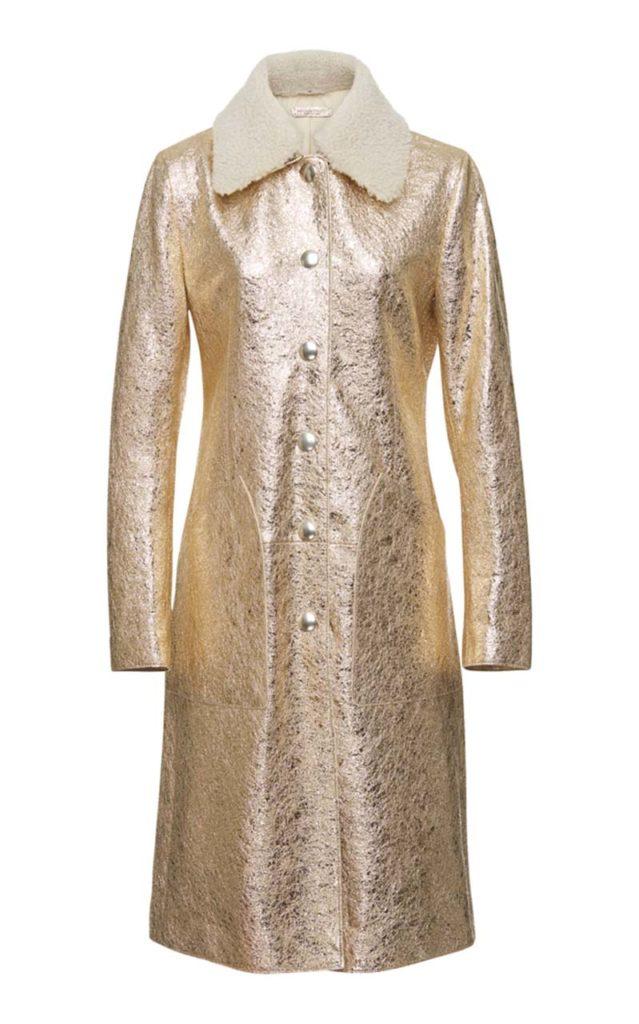 Bottega Veneta Metallic Coat $5,050