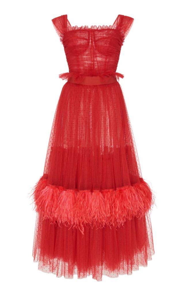 Dolce & Gabbana Tulle Midi Dress $8,845_1