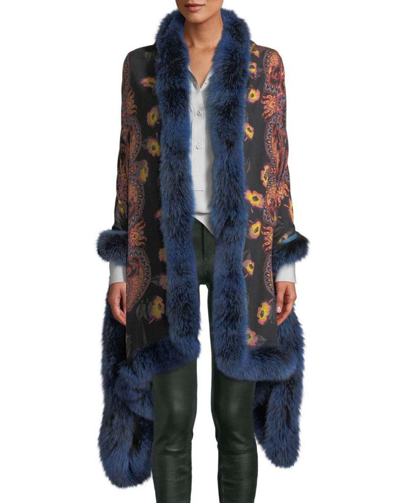 Etro Shaal-Nur Poppy Shawl $1,700