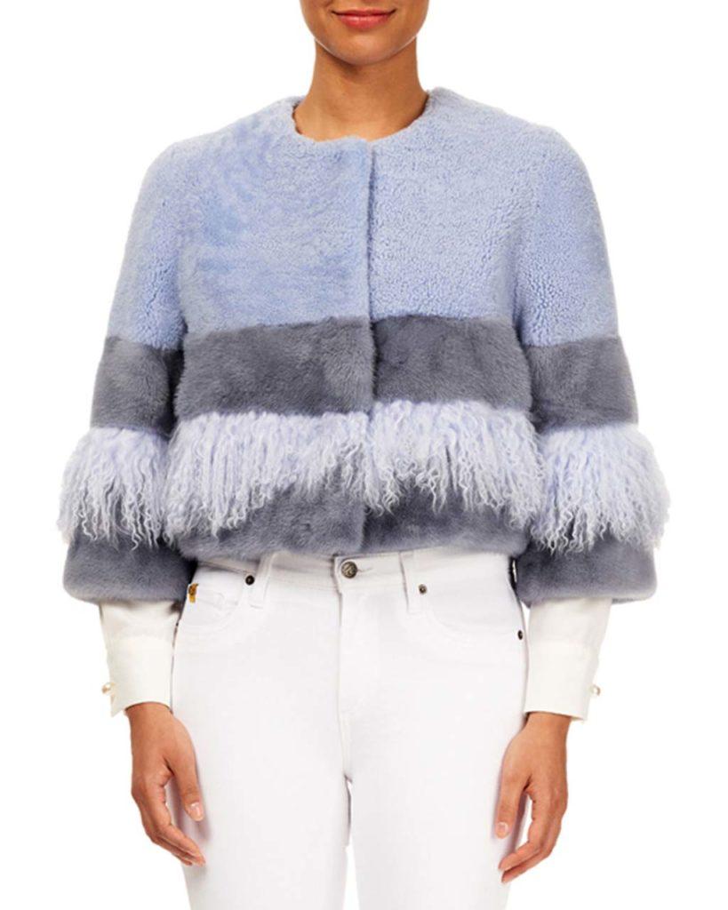Gorski Colorblock Lamb Shearling & Mink-Fur Jacket