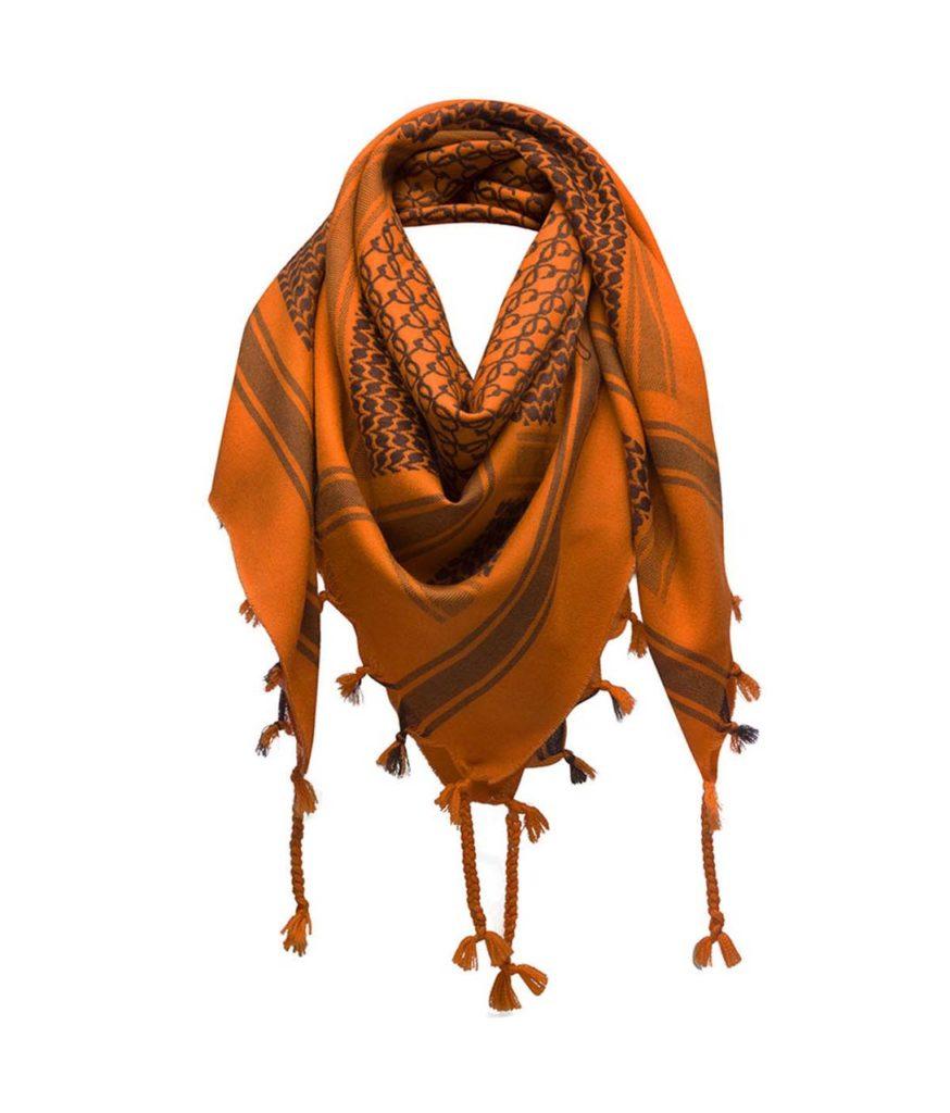 Loewe Scarf Keffiyeh Orange $650