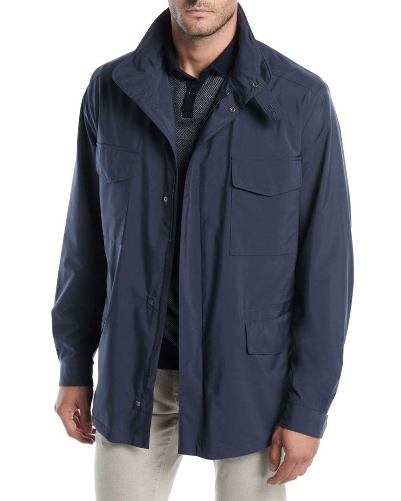 Loro Piana Men's Traveler Windmate Storm System Jacket