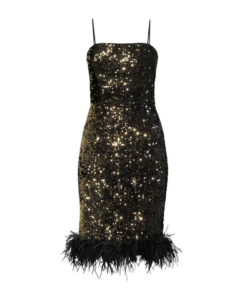 Milly Elle Sequin Velvet Dress $450