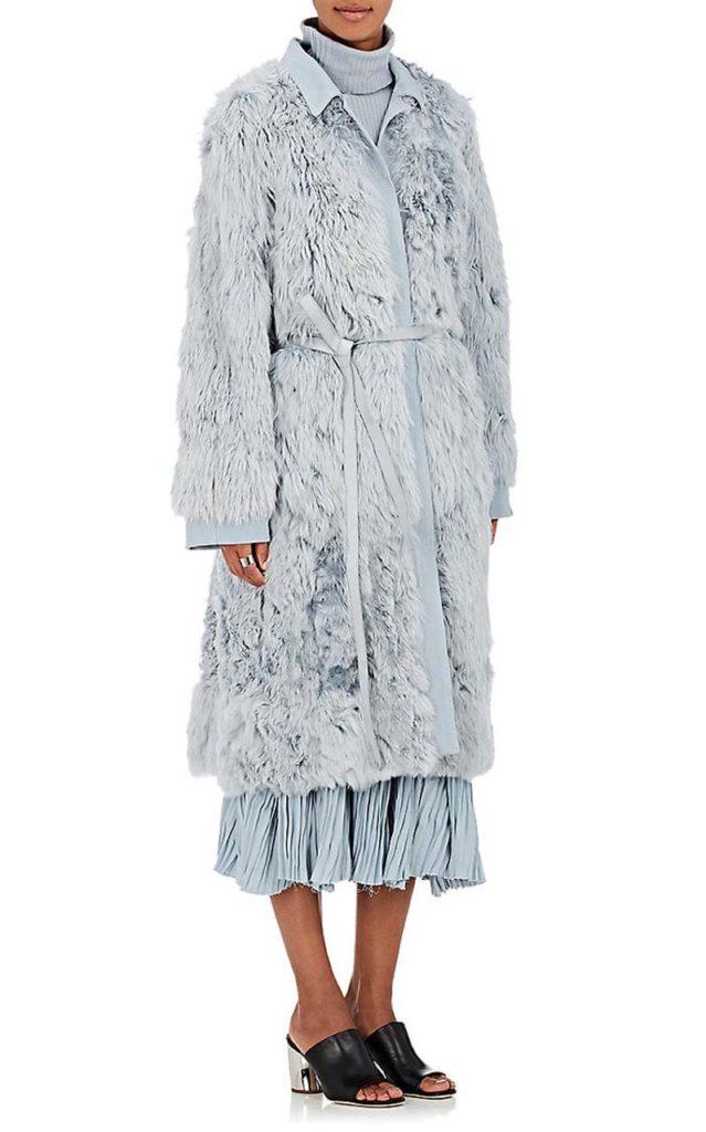 Sies Marjan Alpaca Fur Belted Coat_1
