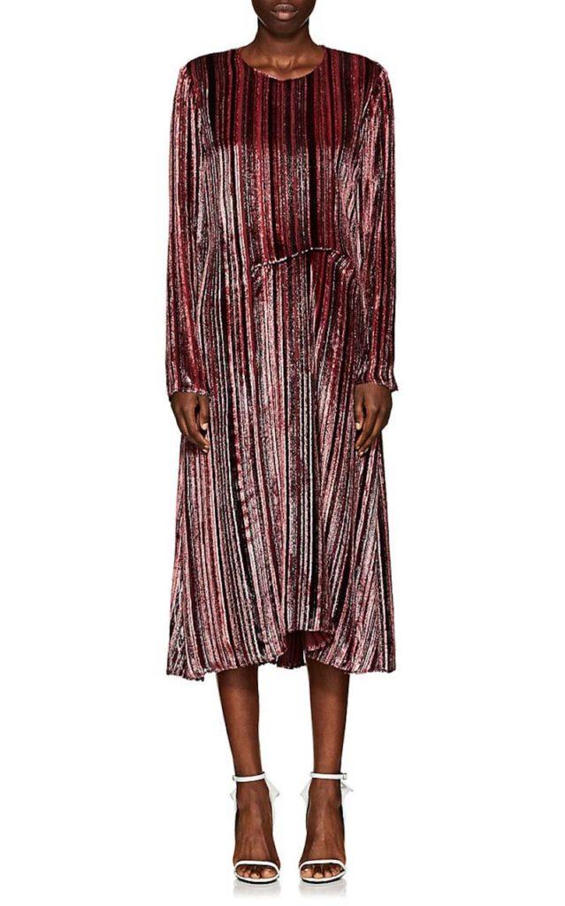 Sies Marjan Maude Striped Silk-Blend Dress