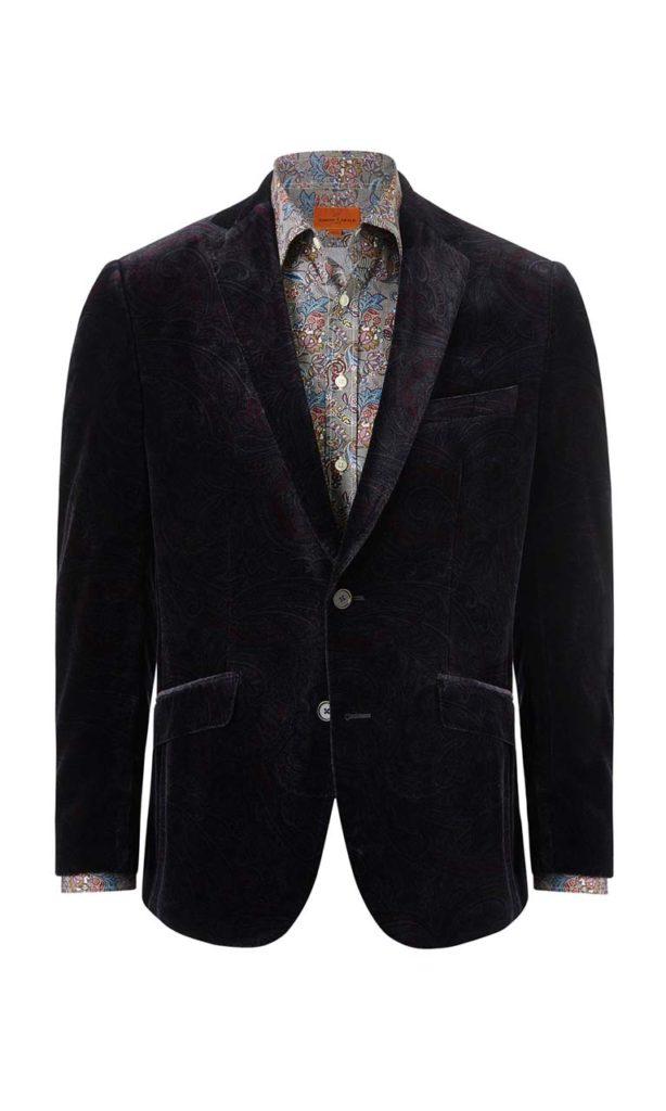 Simon Carter Velvet Caine Jacket $585
