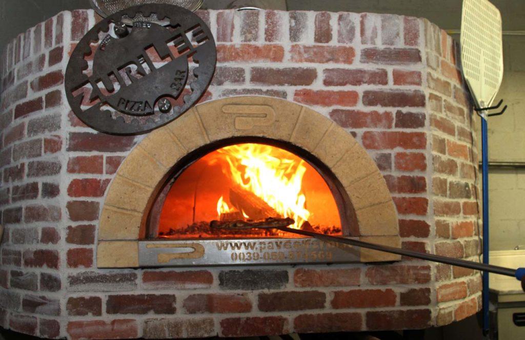 brick wood fire oven