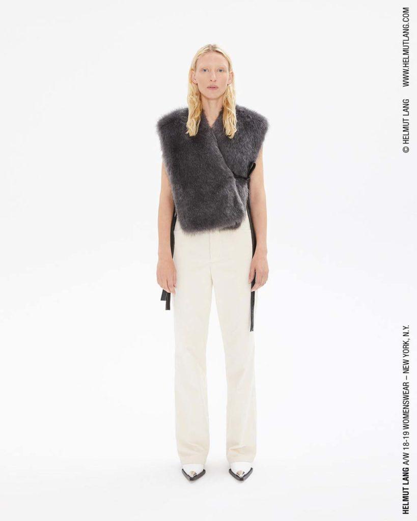 lang fur waist coat