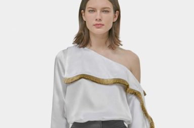 yigal-azrouel-Optic-Silk-Fringe-One-Shoulder-Top