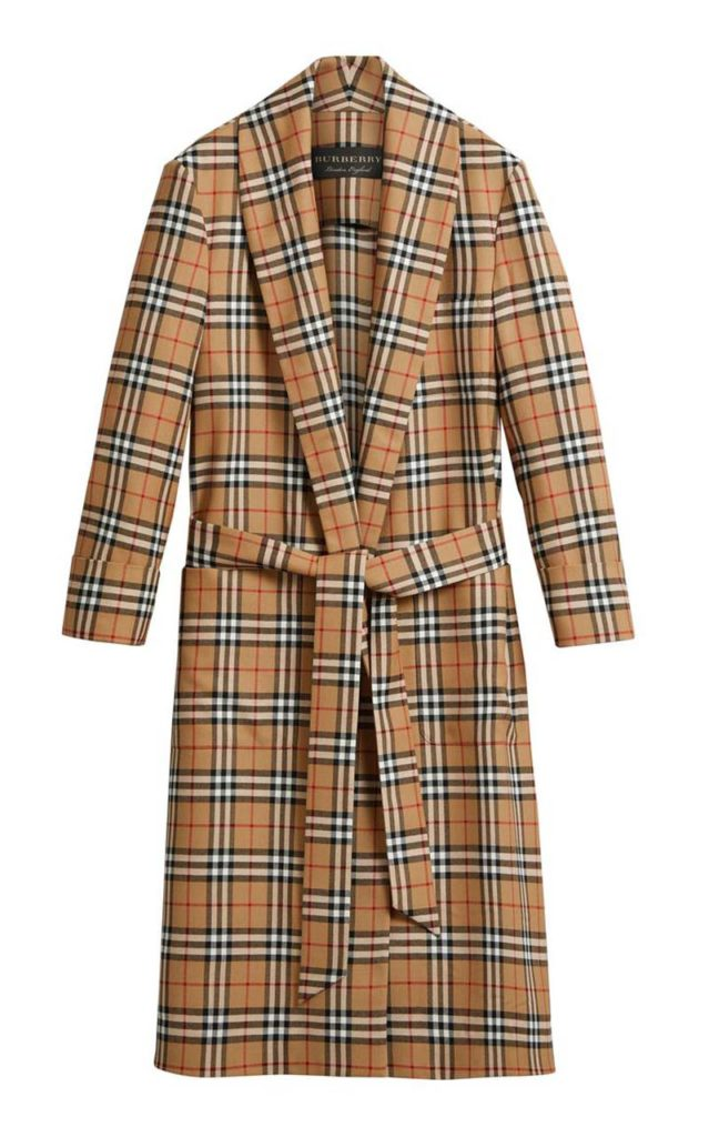 Burberry Belted Checked Wool Coat $2,890_1