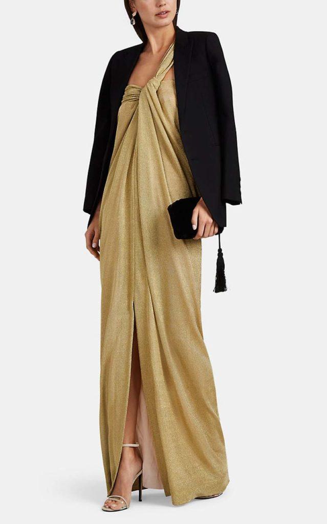Lanvin Lamé One-Shoulder Gown $3,290_1