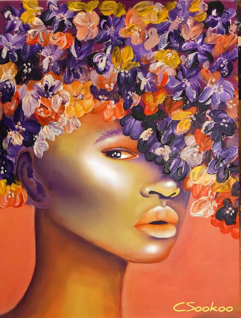 "NEOLANI (air) ""she breathed dreams like air""-acrylic"