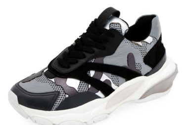 Valentino Garavani Bounce Camo Lace-Up Sneakers