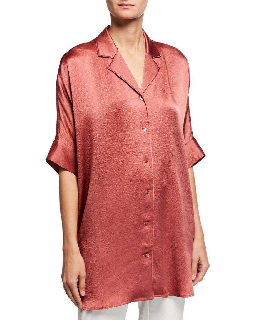 silk blouse eileen fisher