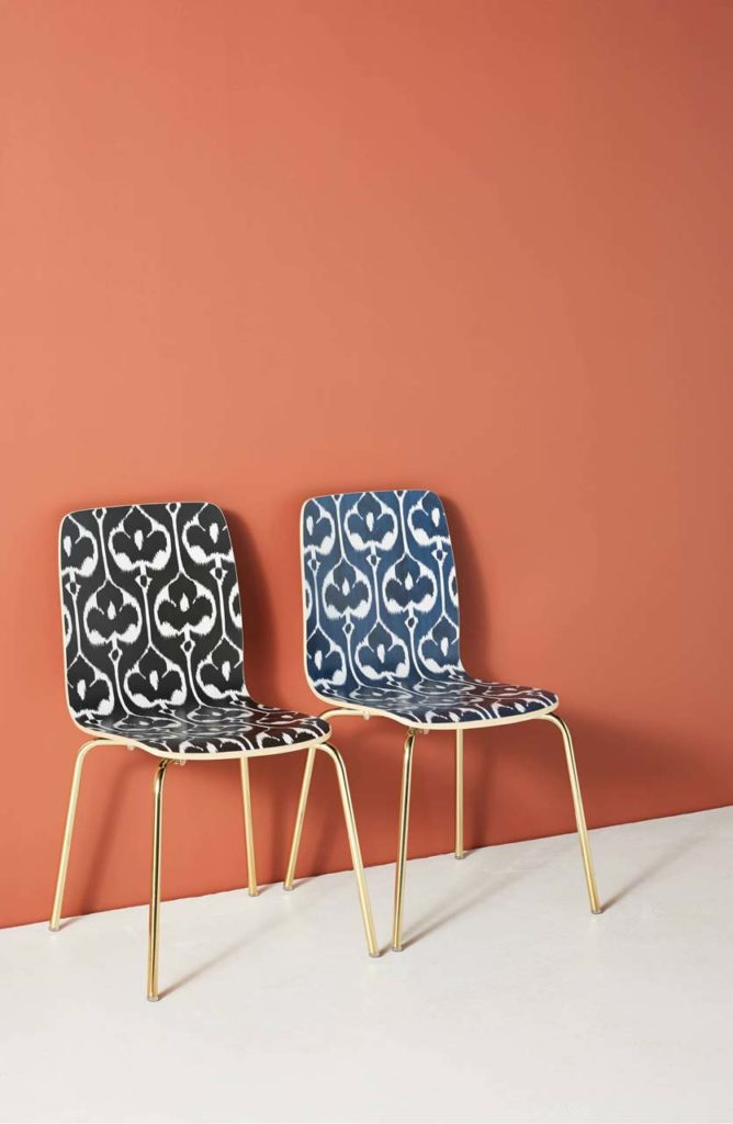 Anthropologie Ikat chair