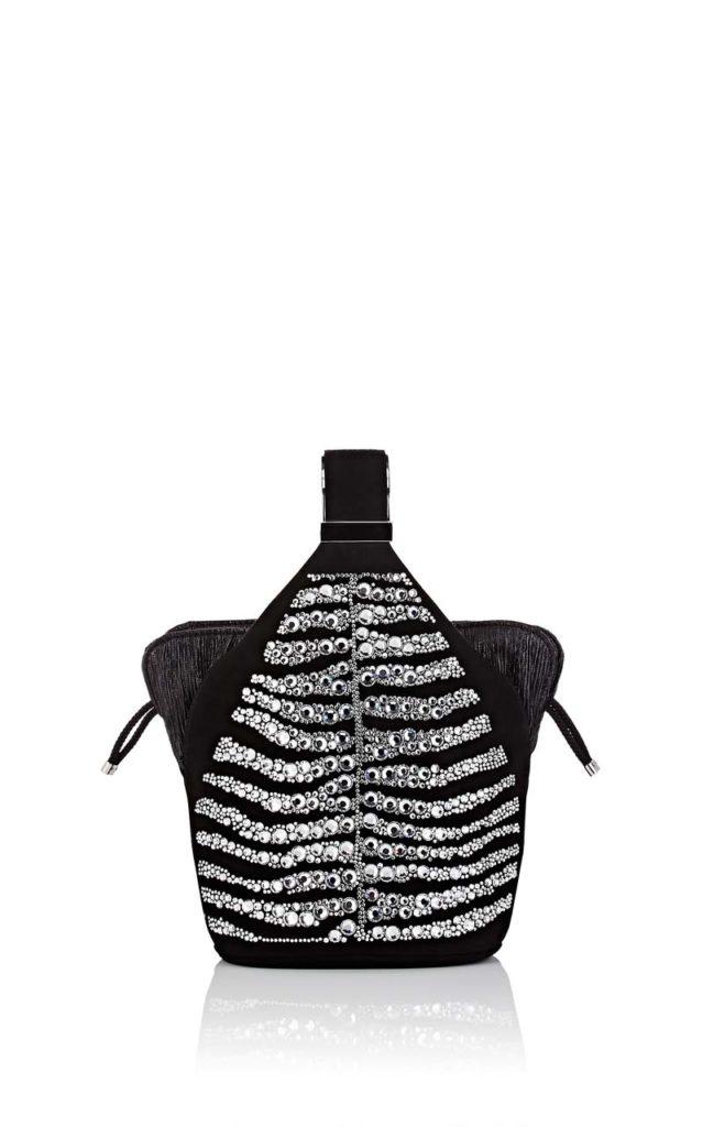 Bienen-Davis The Kit Zebra-Pattern Suede Bracelet Bag 1