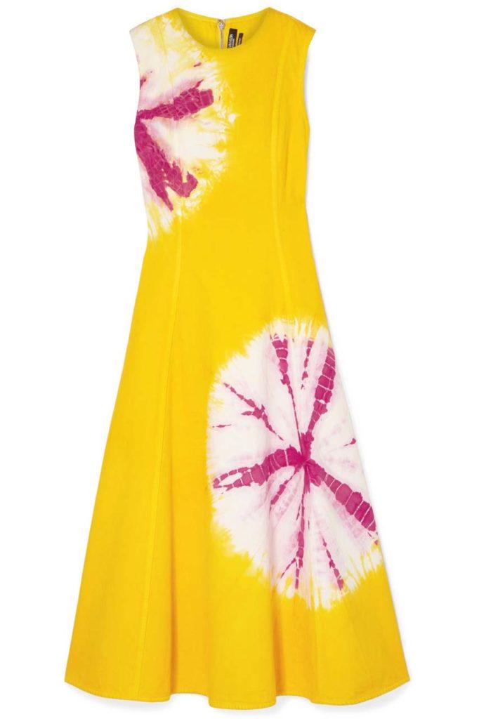 Calvin klein 205W39NYC Tie-Dyed Denim Midi Dress_1