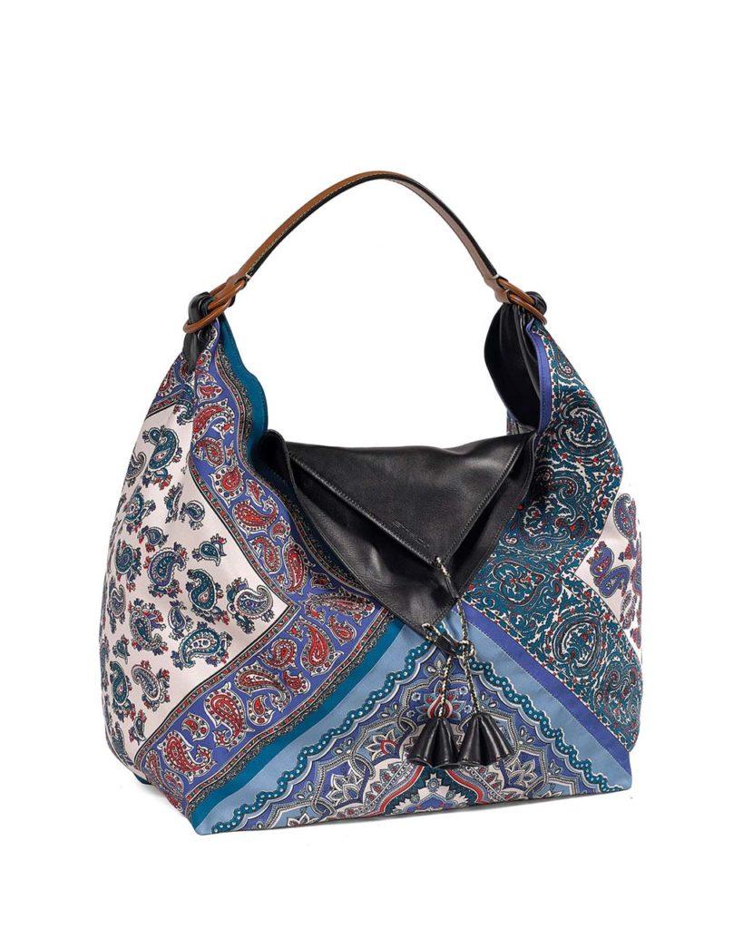 Etro Silk Patterned Shoulder Bag