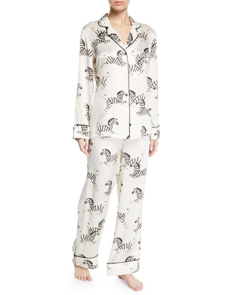 Olivia Von Halle Lila Zebedee Zebras Classic Pajama Set