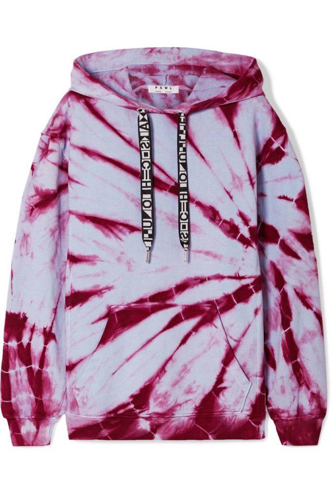Proenza Schouler PSWL Tie-Dyed Cotton-Jersey Hoodie_1